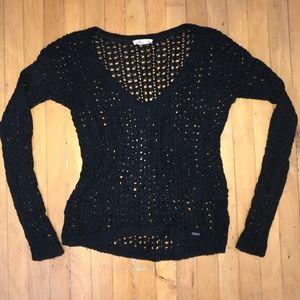 Hollister Navy V-Neck Knit Sweater